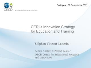 CERI's Innovation Strategy for Education and Training