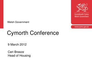 Cymorth Conference