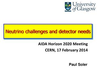 Neutrino challenges and detector needs