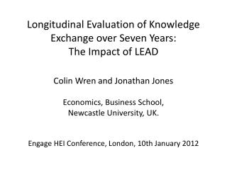 Longitudinal Evaluation of Knowledge Exchange over Seven Years:  The Impact of LEAD