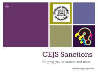 CEJS Sanctions