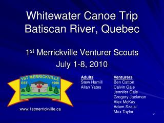 Whitewater Canoe Trip Batiscan River, Quebec