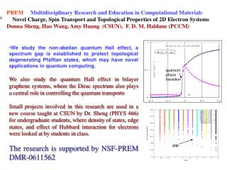 PREM      Multidisciplinary Research and Education in Computational Materials