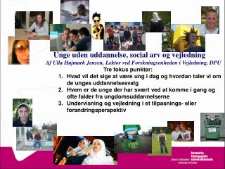 Tre diskurser om social eksklusion Levitas (1998) The Inclusive Society?