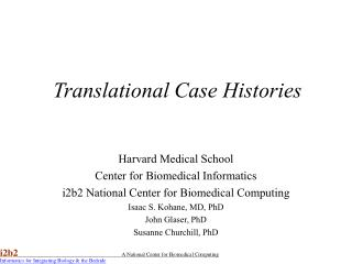 Translational Case Histories
