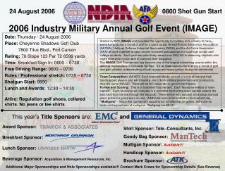 2006 Industry Military Annual Golf Event (IMAGE)