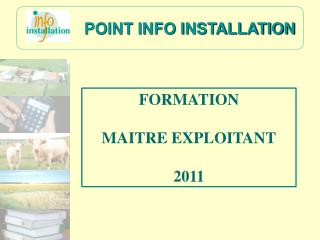 POINT INFO INSTALLATION