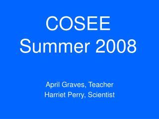 COSEE Summer 2008