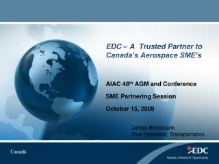 EDC – A  Trusted Partner to Canada's Aerospace SME's