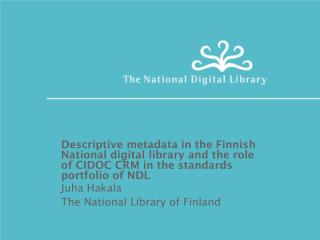 Descriptive metadata in the Finnish