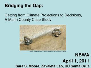 Bridging the Gap: Getting from Climate Projections to Decisions, A Marin County Case Study