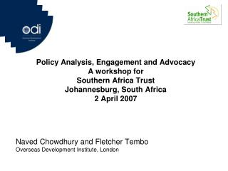 Naved Chowdhury and Fletcher Tembo Overseas Development Institute, London