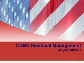 CDBG Financial Management For Local Officials