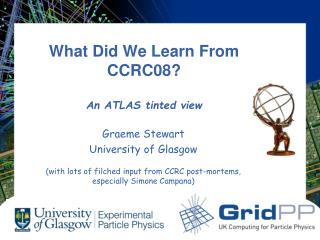 What Did We Learn From CCRC08? An ATLAS tinted view