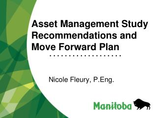 Asset Management Study Recommendations and Move Forward Plan