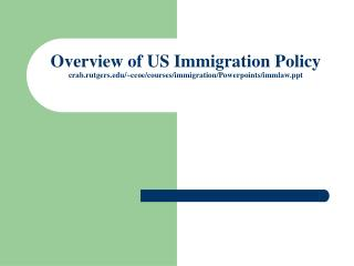 US immigration law is complex, with many different categories for different kinds of people.