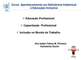 Curso  Aperfeiçoamento em Deficiência Intelectual e Educação Inclusiva