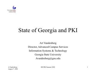 State of Georgia and PKI