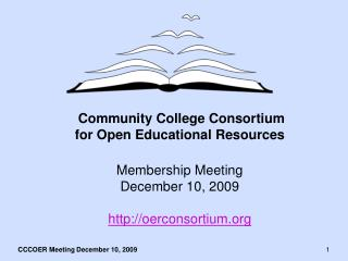 Community College Consortium for Open Educational Resources
