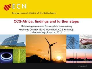 CCS-Africa: findings and further steps