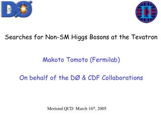 Searches for Non-SM Higgs Bosons at the Tevatron