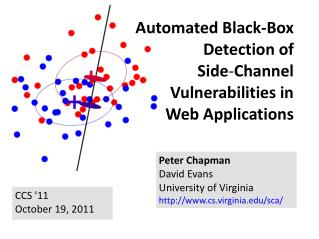 Automated Black-Box Detection of  Side ‑ Channel  Vulnerabilities in Web Applications
