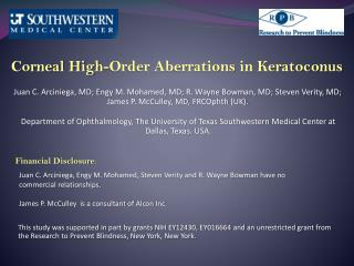 Corneal High-Order Aberrations in Keratoconus