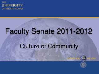 Faculty Senate 2011-2012