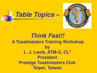 Table Topics –