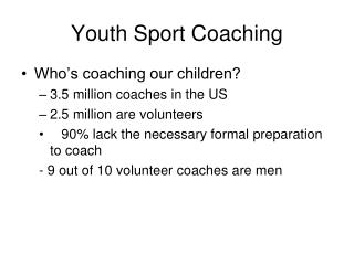Youth Sport Coaching