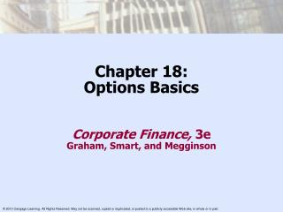 Chapter 18: Options Basics