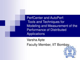 Varsha Apte Faculty Member, IIT Bombay