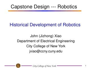 Historical Development of Robotics