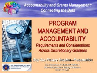 Accountability and Grants Management: Connecting the Dots