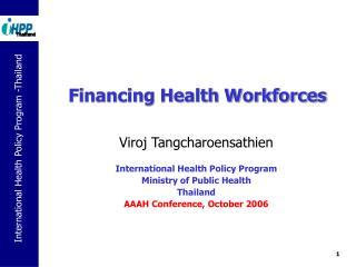 Financing Health Workforces