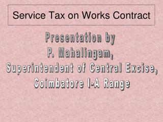 Service Tax on Works Contract
