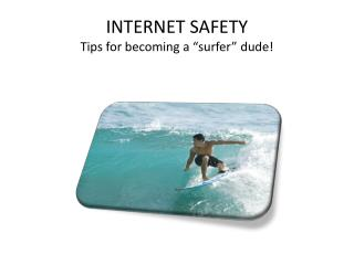 "INTERNET SAFETY Tips for becoming a ""surfer"" dude!"