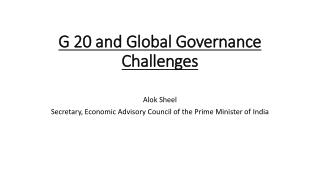 G 20 and Global Governance Challenges