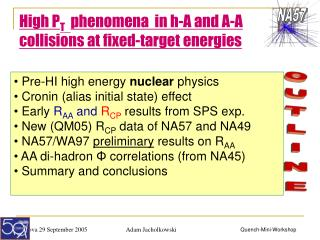 High P T    phenomena  in h-A and A-A collisions at fixed-target energies