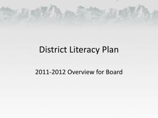 District Literacy Plan