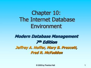 Chapter 10:  The Internet Database Environment