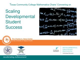 T exas Community College Mathematics Chairs' Convening on