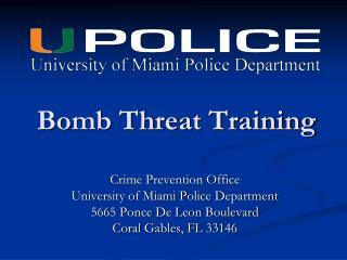 Bomb Threat Training
