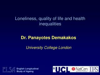 Loneliness, quality of life and health inequalities