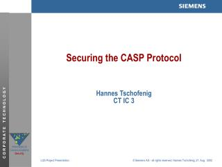 Securing the CASP Protocol