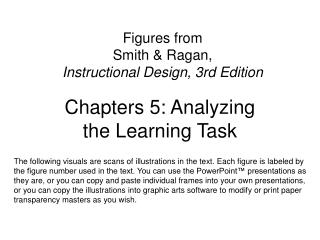 Figures from  Smith  Ragan,  Instructional Design, 3rd Edition