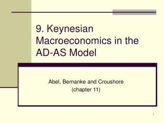 9. Keynesian Macroeconomics in the AD-AS Model