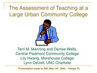 The Assessment of Teaching at a Large Urban Community College