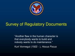 Survey of Regulatory Documents