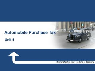 Aut omobile Purchase Tax